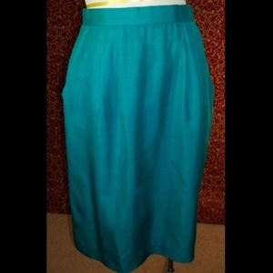 EVAN PICONE VTG 80s silk straight skirt 10